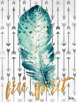 Free Spirit Feather Fine Art Print