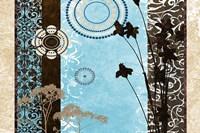 Blue Santorini Garden I Framed Print