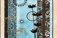 Blue Santorini Garden II Framed Print