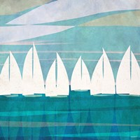 Afternoon Regatta I Fine Art Print