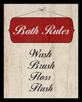 Bath Rules I Framed Print