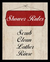 Bath Rules II Framed Print