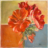 Red Geraniums II Fine Art Print