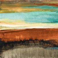 Rustic Sea Square I Framed Print