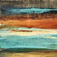 Rustic Sea Square II Framed Print