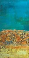 Rustic Frieze on Teal II Fine Art Print