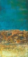 Rustic Frieze on Teal I Fine Art Print