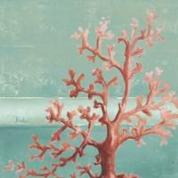 Teal Coral Reef I Framed Print