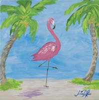 Fancy Flamingos I Fine Art Print