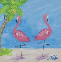 Fancy Flamingos IV Fine Art Print