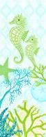 Seahorse Reef Panel II Framed Print