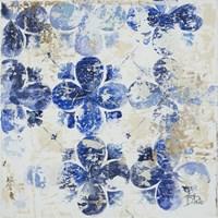 Blue Quatrefoil I Framed Print