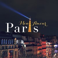 Mon Amour Paris Square Fine Art Print