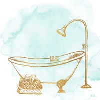 Le Tub on Teal II Fine Art Print