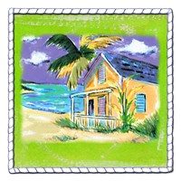 Beach-Front Cottage Fine Art Print