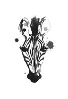 Zebra Splash Fine Art Print