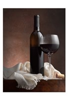 Red Wine And Cork Fine Art Print