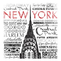New York Words Fine Art Print