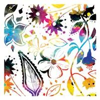 Colorful Florals Mate Fine Art Print
