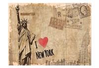 Post Card New York Fine Art Print