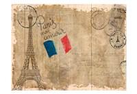 Post Card Paris Fine Art Print