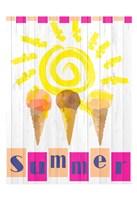 Summer Ice Cream Cones Fine Art Print