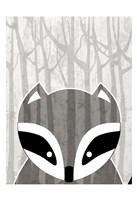 Woodland Racoon Fine Art Print