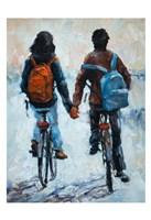 ShenLi's Romance On Bikes Fine Art Print