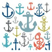 Coastal Anchors Fine Art Print