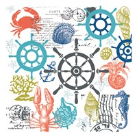 Coastal Collage Fine Art Print