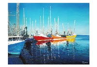At The Marina Fine Art Print