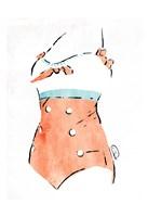 Vintage Swimsuit Pastel 3 Fine Art Print