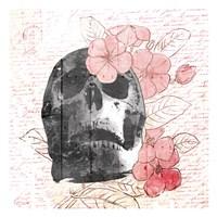 Floral Skull Mate Fine Art Print