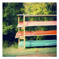 Caddo Canoes 1 Fine Art Print
