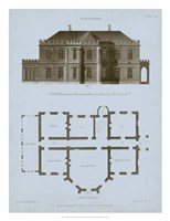 Chambray House & Plan III Fine Art Print