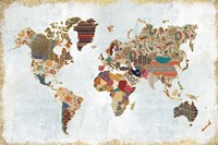 Pattern World Map Fine Art Print