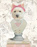 Canine Couture Newsprint II Framed Print