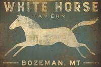 White Horse Running Fine Art Print