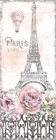 Paris Roses Panel VIII Fine Art Print