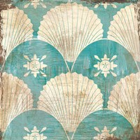 Bohemian Sea Tiles I Fine Art Print