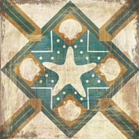 Bohemian Sea Tiles IV Fine Art Print
