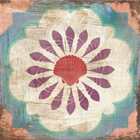 Bohemian Sea Tiles VI Fine Art Print