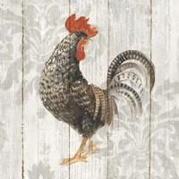 Farm Friend II on Barn Board Framed Print