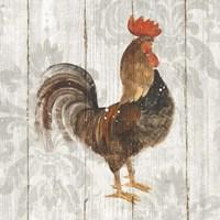 Farm Friend III on Barn Board Framed Print