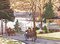 Chautauqua - Currier And Ives Ride Fine Art Print