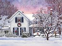 Christmas Cardinals, Orchard Park, NY Fine Art Print