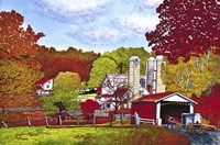Covered Bridge And Buggy, Lancaster Co, Pa Fine Art Print