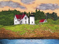 Curtis Island Lighthouse, Camden, Me Fine Art Print