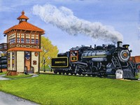 Engine #90 At The Switch Tower, Strasburg Pa Fine Art Print