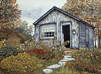 Flower Shed I, Arlington Vt Fine Art Print